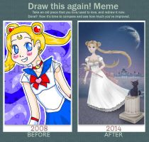 Draw this again - Sailor Moon by KittyCarousel