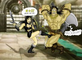 conan vs xena in Soul Calibur V by nicetarget