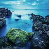 The blue sea by Aurelien-Minozzi