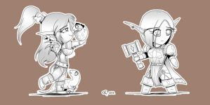 WoW Chibis - Round 2 by Yula568