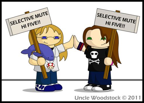Selective Mute High Five by UncleWoodstock