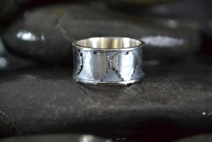 Triple Heart Ring by Silverthink