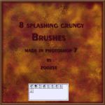 Grungy Splashes Photoshop Brushes by zoozee
