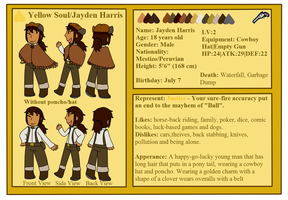 [Undertale] Yellow Soul Ref sheet by poi-rozen