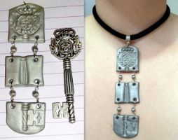 separated key necklace by RaheHeul