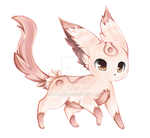 Fake Eeveelution: Candy Eevee by Midna01