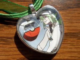 FOR SALE: Pokemon Trainer N Harmonia Heart Charm by BlackManaBurning