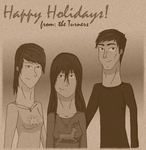 Turner Holiday Card (sepia version) by Linzerj