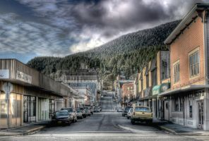 Downtown Ketchikan HDR 101709 by Muskeg