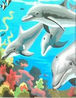 Small Dolphin Painting by MadeByJanine