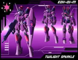 MLP Mecha: Twilight Sparkle finalized design by zeiram0034