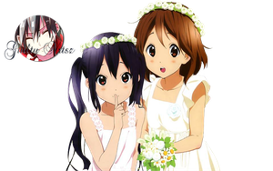 Azusa and Yui render by GuiltyArtzs
