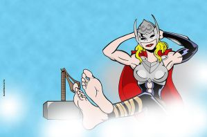 Bootless Thor by sandrock74