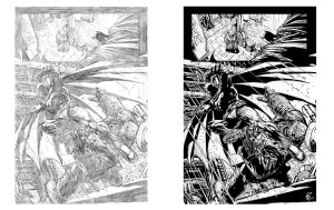 INK PORTFOLIO: Batman part 2 by shiprock