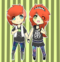 [Kois] Punk Twin Adoptables {OPEN-LOWERED PRICE} by Mysteryy-Adopts