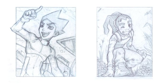 Apus and Themba drawings by Daniel-GS