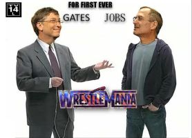 Gates vs Jobs WrestleMania by kakor16