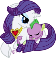 mlp:fim My Favorite Baby Dragon by emeralddarkness