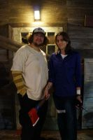 SDCC 2013 - The Walking Dead - Clementine and Lee by RebelATS