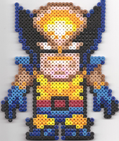 Wolverine - Perler Beads by JackalopeDesigns