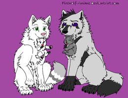 Graymoon and Whitewings Pups by Clawfang9505