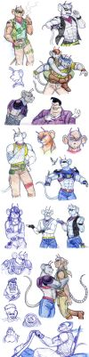 Sketchdump 22 - Biker Mice From Mars by Rosyan