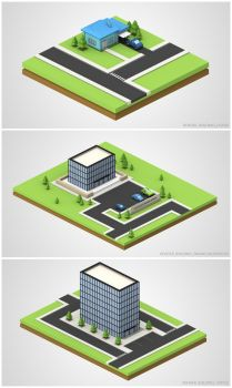 Financial Services Renders - Buildings 02 by chowgood