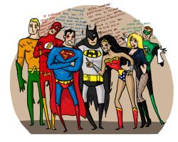 The Justice League... by Rennastar