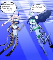 Request - Arlena and Erika freediving by Suomipoika11