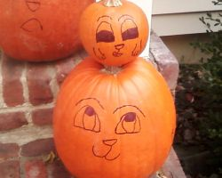 Baby and Mom Pumpkin by Rosiehamster