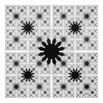Black and White Nblur Tile by baba49