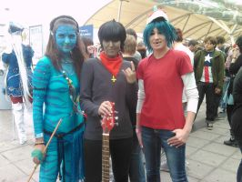 Me and Murdoc and 2D - Expo by 2Dismine