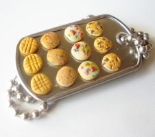 Miniature COOKIE tray necklace by LittleCalorieGallery