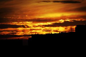 Sunset in Warsaw by plol098