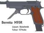Berretta M93R - Finished (Lineart and Colour ) by GT4tube