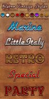 Retro Vintage Photoshop Styles Pack 2 by KoolGfx