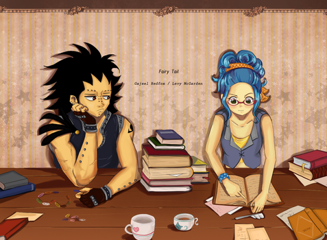 Gajeel and Levy by Muza4370