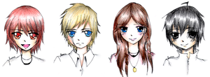 Clarisse. Luke. Silena. Nico. by Katara-WaterTribe-14