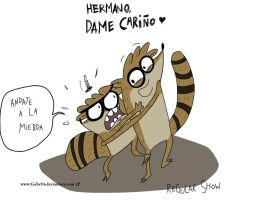 RIGBY Y DON REGULAR SHOW by gabs94