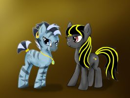 Spotlight and Maiyo by ChocolateQuill