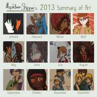 Summary of 2013 Art Meme by Karma-Maple