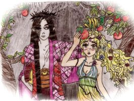Hades + Persephone POMEGRANATE by VampricFaeryGirl