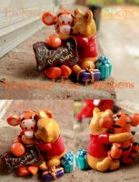 Pooh and Tigger Cake topper by FairyMoonCreations