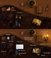 Steampunk Desk FULL SCREEN for xwidget by jimking