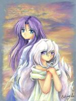 .hack// :: The two Auras by waterlilly