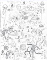 Super Random Doodle Page by TheLuckyStarhopper