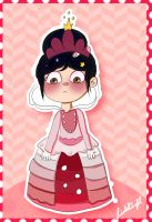 princess Vanellope (color) by isabellafan4ever