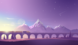 Train Cross by Icondesire