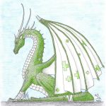 First Aid Dragon coloured. by Scellanis