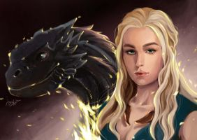 Game of Thrones --- Daenerys Targaryen by maorenc